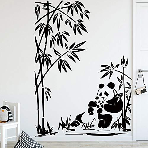 Leuke Panda FunnyWall Sticker voor Kids Kamer Decoratie Accessoires Vinyl Decals Slaapkamer Decor Animal Mural WallpaperBlackXL 58cm X 81cm XL 58cm X 81cm Grijs