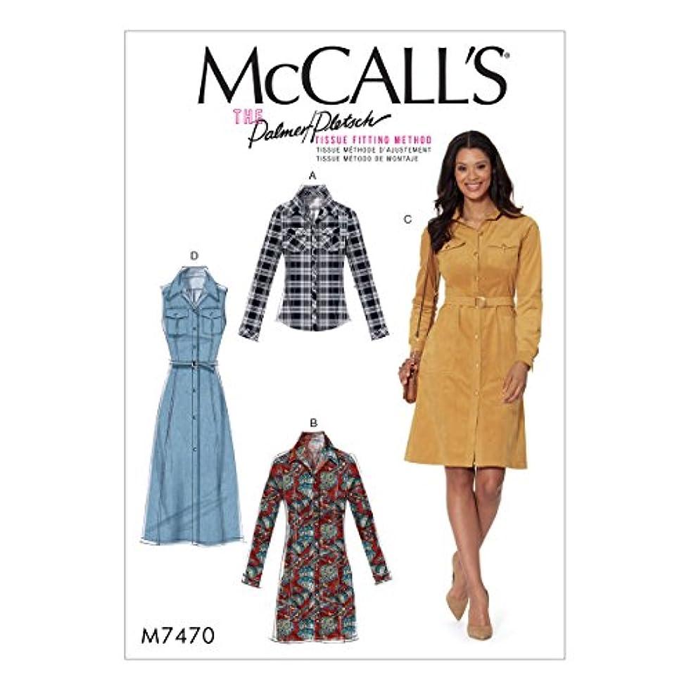 McCall's Patterns M7470E50 Misses' Button-Down Shirt Belt Shirtdress