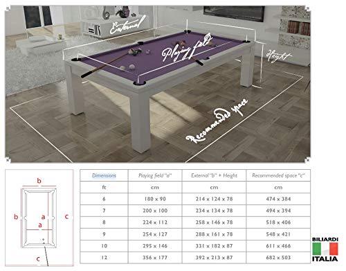 Biliardi Italia Biliardo - Mesa Mod. Italia Unici 7 FT + Accesorios Pool + Taco: Amazon.es: Deportes y aire libre