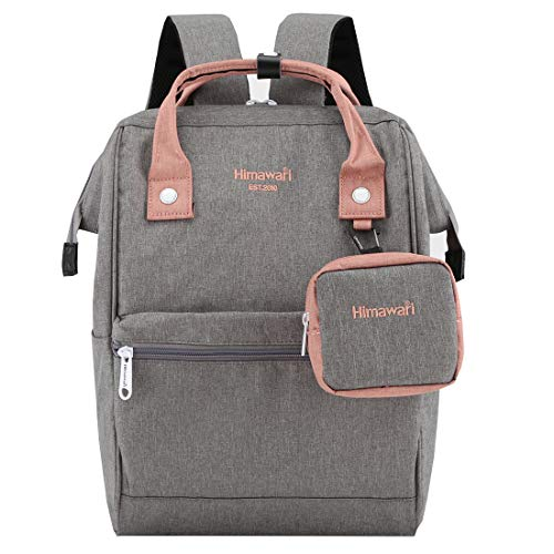 Himawari Travel Laptop Backpack for Men Women, Huge Capacity 15.6'' Computer Notebook Bag for School College Students(Gray)