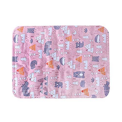 MEISISLEY Tappetino Refrigerante Tappetino Refrigerante per Gatti Pad di Allenamento Cat Mat Cuscinetto di Raffreddamento per Cani Raffreddamento del Cane Large,Pink