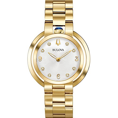 Bulova Damen Analog Quarz Uhr mit Edelstahl Armband 97P125