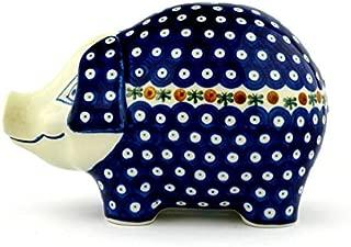 Polish Pottery Pig Figurine 10-inch made by Ceramika Artystyczna (Mosquito Theme)