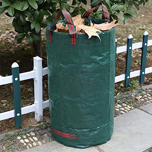HMG 84 galones 300L PP Jardín Hojas caídas Verde Bolsas de residuos Bolsas, Tamaño: 67cm x 84cm