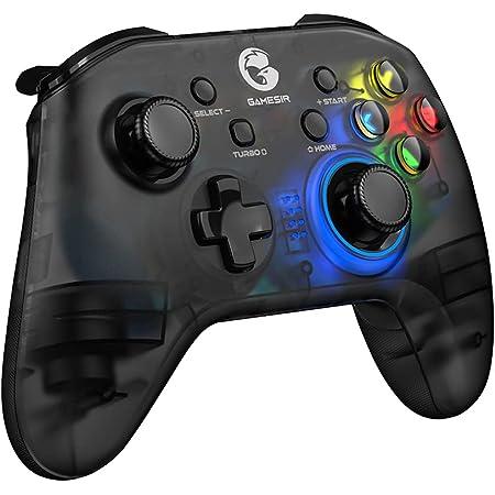 GameSir T4 pro ゲームパッド ワイヤレス Bluetooth 無線 接続 遅延なし Android/iOS/PC用 コントローラー HD振動 TURBO連射機能付き 6軸ジャイロセンサー搭載 高耐久ボタン
