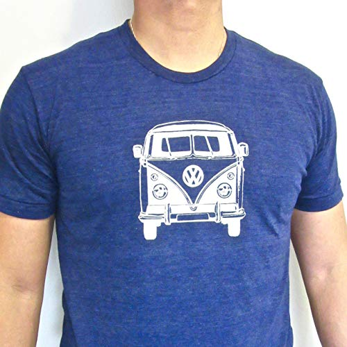 VW Bus tri blend mens/unisex shirt - VW Van adult t shirt