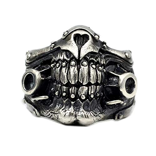 Anillos, 925 Sterling Silver Mad MAX Inmortal Joe's Anillos De Joe para Hombre Retro Punk Rock Fine Jewelry,9
