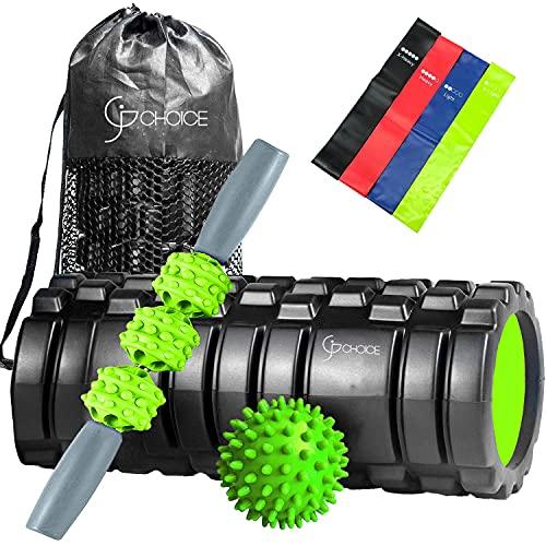 Rodillo de espuma para gimnasio, execise entrenamiento, 4 en 1, ideal para gimnasio y yoga