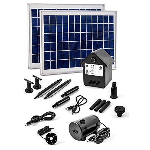 CLGarden 20 Watt Solar Pumpe mit Akku und LED Springbrunnen NASP3Z Solarpumpe Teichpumpe 20W