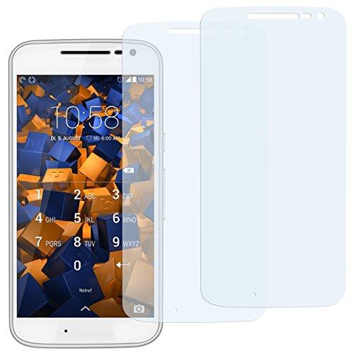 mumbi Schutzfolie kompatibel mit Lenovo Moto G4 Folie klar, Bildschirmschutzfolie (2X)