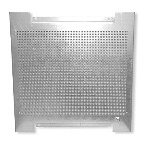 braun teleCom 1, 5mm Lochblech-Montageplatte mit Erdungsanschluss 400x400x18mm