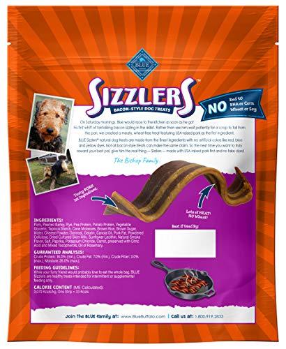Blue Buffalo Sizzlers Natural Bacon-Style Soft-Moist Dog Treats