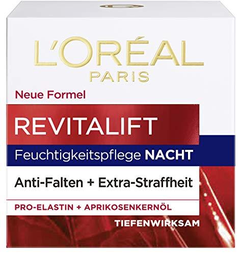 LOréal Paris Revitalift Nachtverzorging, Anti-Aging Gezichtsverzorging, Anti-Rimpel En Extra Stevigheid, Pro-Elastine En Abrikozenpitolie, 50 ml