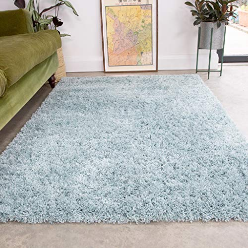 Duck Egg Thick Shaggy Rug Duckegg Blue Plush Affordable Super Soft Fluffy...