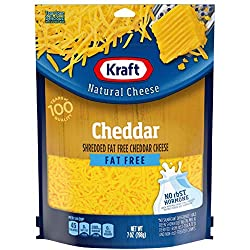 Kraft Natural Shredded Fat Free Cheddar Cheese (7 oz Bag)