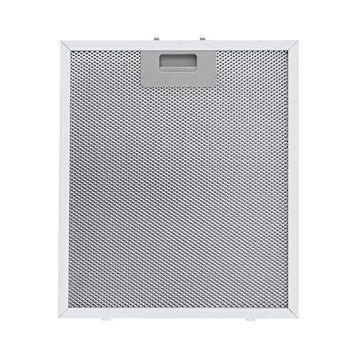 Klarstein Aluminium-Fettfilter Austauschfilter für Dunstabzugshauben (26 x 37 cm, Klickverschluss, Aluminium) 2er Set silber