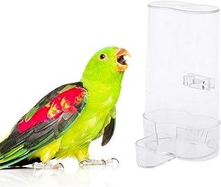 Lazder – Dispensador de Agua para pájaros, comedero para Mascotas y Bebedero, Transparente, comedero para pájaros pequeños