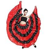 LOLANTA Costume da Sala da Ballo di Flamenco con Gonna Taurina Spagnola Rossa E Nera