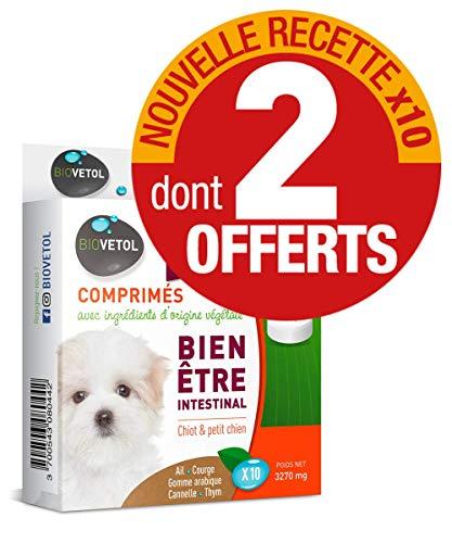 Biovetol - Offre Speciale - Comprimés Bien-être Intestinal Chiot/Petit Chien - x10 Dont 2 OFFERTS