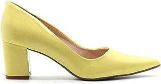 Scarpin Royalz Verniz Salto Grosso Baixo Penélope Amarelo