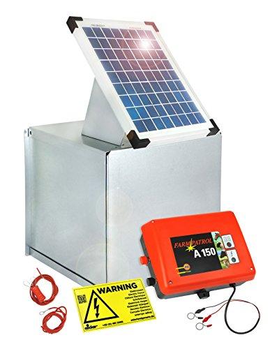 Weidezaungerät SOLAR-Set: 10W Solar Box & 12V Weidezaungerät A 150 - wartungsarm & sicher - Made in Germany - gewaltige Laufzeit und schlagstark