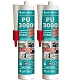 HOTREGA 2 x PU-3000 Konstruktions-und Montagekleber 310 ml