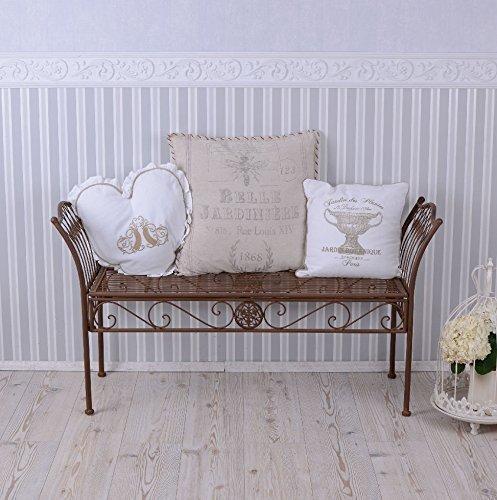 PALAZZO INT Sitzhocker Gartenhocker Landhausstil Hocker Vintage Sitzbank