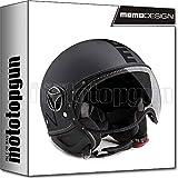 momo design casco moto jet fighter evo titanium frost-nero tg. m