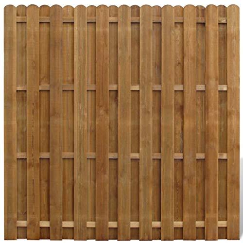 Wakects Gartenzaun Dichtzaun Holz Zaun Kiefer Zaun, Zaunfeld Element Senkrechtes Profil 180x180cm