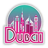 2x Pegatinas de vinilo de Dubai equipaje de viaje # 10696