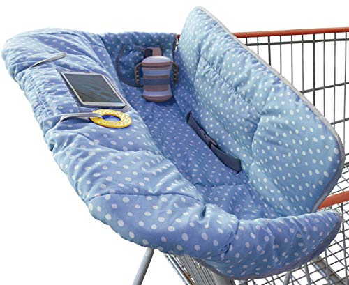 Product Image of the Suessie Shopping Cart Cover and High Chair Cover, Blue Dots