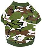 Oasis Plus 100% Cotton Green Camouflage Pet T-Shirt Sweatshirt Costume Clothes for Large Female Male Dogs Cats Rabbits