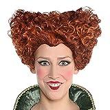 ABRC Cosplay Winifred Sanderson Stretta di Disegno alla Moda Cosplay Curl Pixie Cut Parrucca di Media Lunghezza Rosso Scuro Sintetico di Capelli delle Donne squisita Red # 8193080