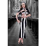 Cestbon Disfraz De Monja Sexy Cosplay,Halloween Hombres Y Mujeres Adultos Sacerdote Predicador Pareja Usar Uniforme Tentación Disfraz,Negro