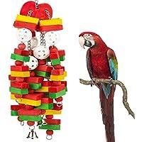 Juguetes de masticación para pájaros Stayjoy con forma de jaula para loros