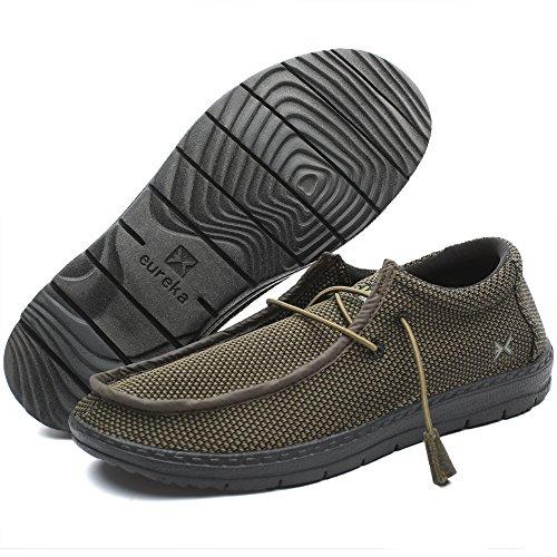 Traveler Pro Men's Casual Slip-On Sneaker, Comfort, 002 Khaki, Size 10.0