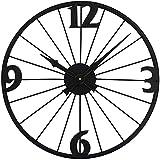 Sunmong Orologio da Parete 50cm Orologio da Parete in Stile Industriale Orologio da Parete Decorativo con Design a Ruota di Bicicletta Orologio Silenzioso per Soggiorno, Ufficio e Decorazioni per la