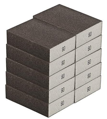 Schleifschwamm GROB 10-er Set I robuste Körnung 36-280, DIY, Handschleifer, für viele Materialien geeignet I hochwertiger Handschleifklotz, Schleifklotz, Schleifblock