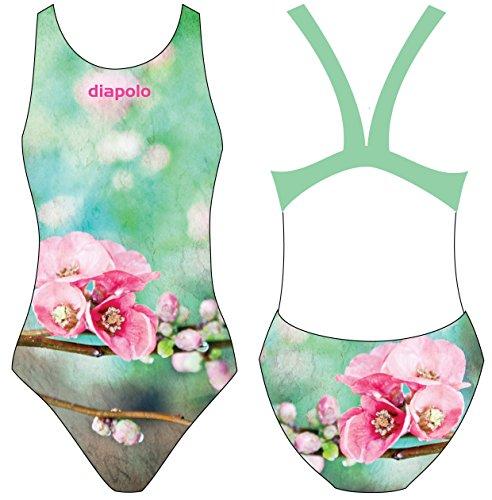 Diapolo Spring Cherry Costume da Bagno dalla Collezione Spring per Nuoto Sincronizzato Nuoto pallanuoto thriathlon, Normale Träger, S