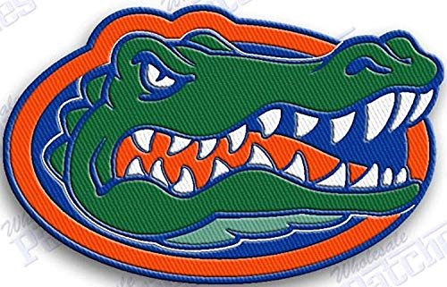 Yibuoo Florida Gators Embroidered Patch Iron on Logo Vest Jacket Cap Hoodie Backpack Patch Iron On/sew on Patch