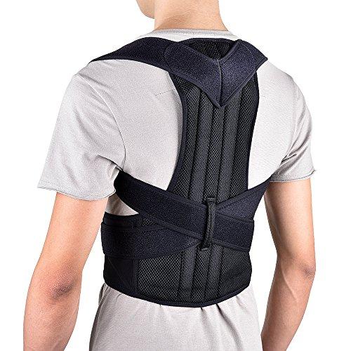 HailiCare Correcteur de Posture Support de Dos et l'épaule Réglable et Confortable Ceinture Maintien de Dos Soulager Douleur de Dos pour Hommes et Femmes (L 34-42'')