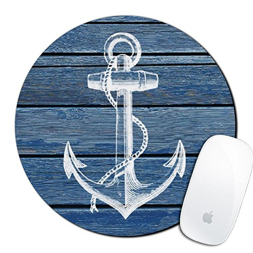 Royal up Anchor Custom Mouse Pad Gaming Mat Keyboard Pad Waterproof Material Non-Slip Personalized Round Mouse pad (7.8x7.8x0.08Inch)