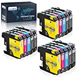 OfficeWorld Compatible Ink Cartridge Replacement for Brother LC103 103XL LC103XL LC103BK LC103C LC103M LC103Y (15 Packs) to use with Brother MFC-J870DW, MFC-J450DW, MFC-J6920DW, MFC-J470DW