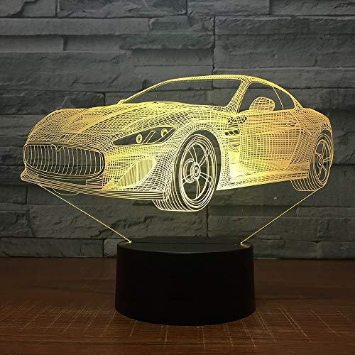 2018 Creative Fashion Cars Night Lights Home Gifts Children's Bedroom Discoloured Decorative Lights USB Led 3D Lamp