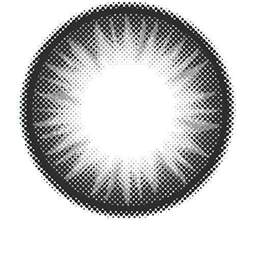 MATLENS - Pro Trend Farbige Kontaktlinsen ohne Stärke Bella grau circle lenses PC-224 2 Linsen 1 Kontaktlinsenbehälter 1 Pflegemittel 50ml