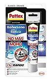 Pattex Baño Sano No Más Moho, silicona antimoho e impermeable, silicona blanca duradera para cocina y baño, resistente silicona sanitaria, 1 tubo x 50 ml
