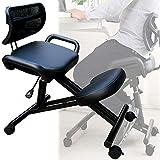 DBMGB Kniehocker Kniestuhl Ergonomisch mit Rückenlehne Höhenverstellbarer Kniender Hocker für zu Hause und im Büro, PU-Leder + Rückprallschwamm