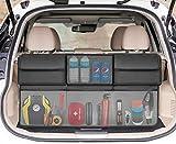 SRAMI Back Seat Trunk Organizer Hanging Car Organizer Trunk Foldable Cargo Storage with 6 Large Pockets 3 Adjustable Straps