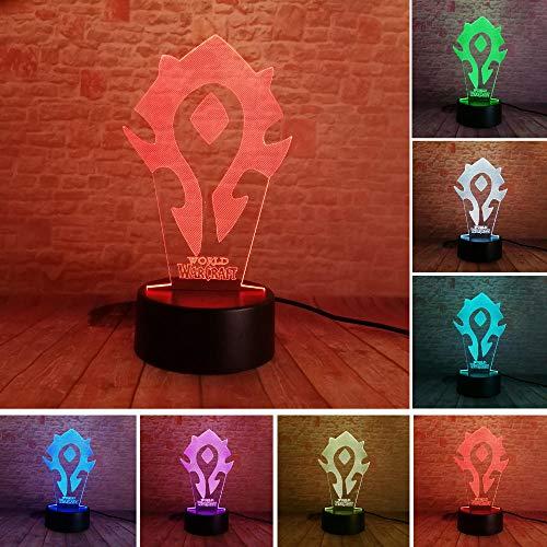 Nachtlicht 3D Nachtlicht Illusion Licht Bunte Note Kreative Usb World Of Warcraft Tischlampe Dekoration Weihnachtsgeschenk
