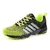 Zapatillas unisex para correr de carretera para hombres y mujeres, transpirables, para jóvenes, niñas, zapatos deportivos, Green, 42 1/3 EU